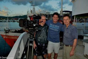 Craig and the film team
