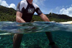 Craig on surf board