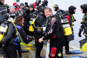Divers going to collect rubbish from Lake Windemere