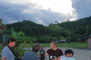 Filming in Fiji before the store