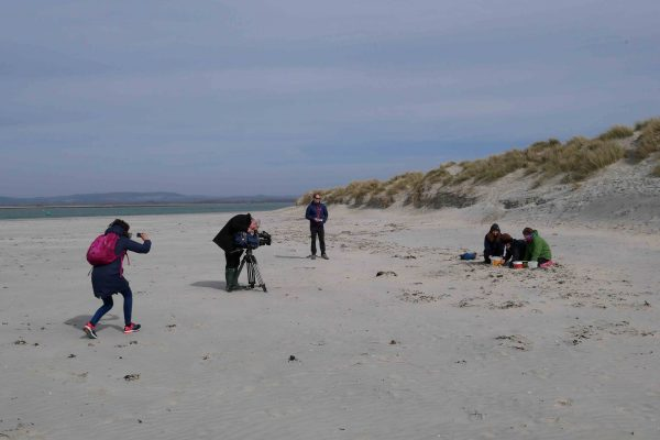 BBC filming microplastics samples