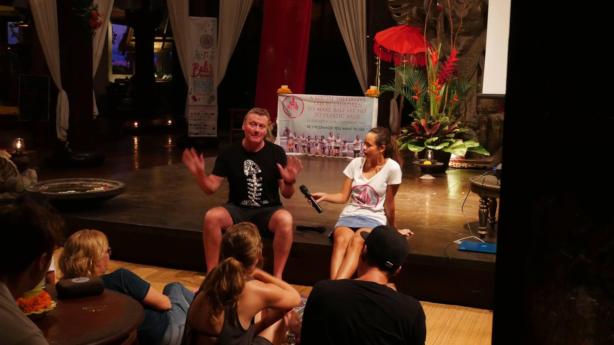 David Jones speaking in Bali