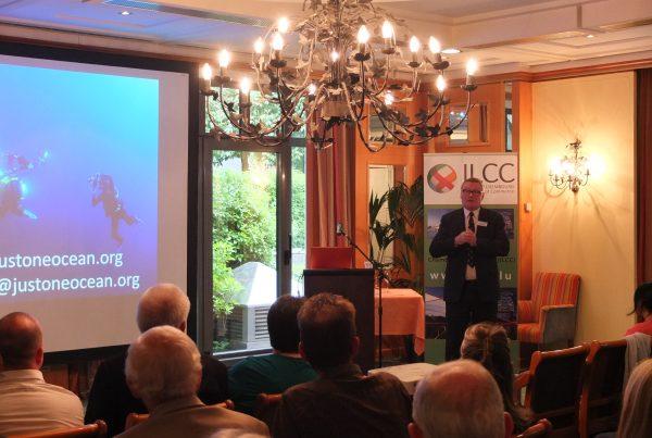 David Jones speaking in Luxembourg