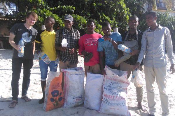 Beach cleans in Zanzibar