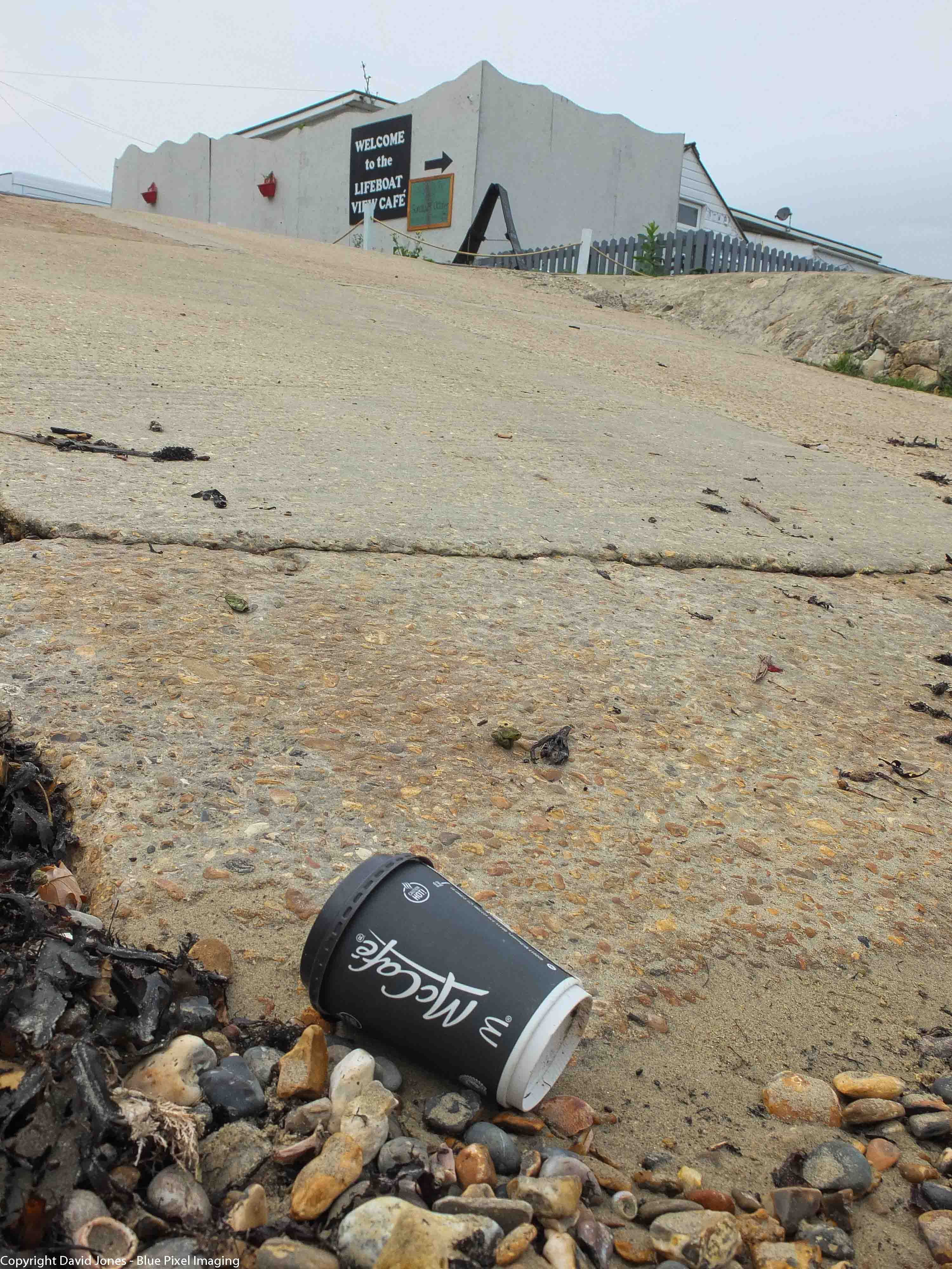 Another Coffee cup on the beach