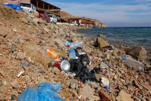 Plastic on the beach in Egypt