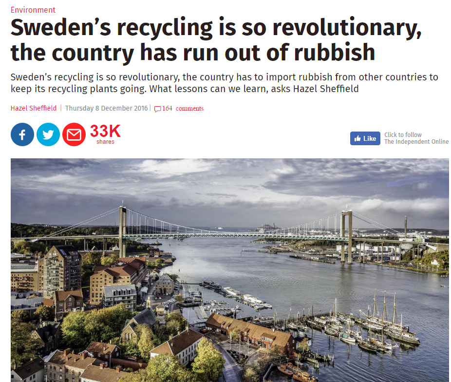 Sweden's recycling