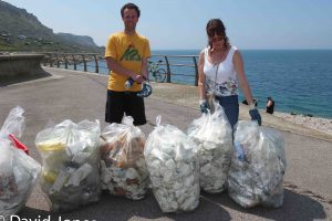 A successful beach clean