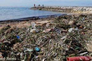 Bali beach rubbish