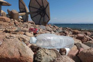 Bottle on the beach in Egypt