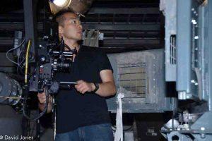 Cameraman making adjustments for A Plastic Ocean