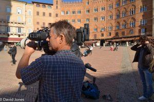 Filming A Plastic Ocean in Siena
