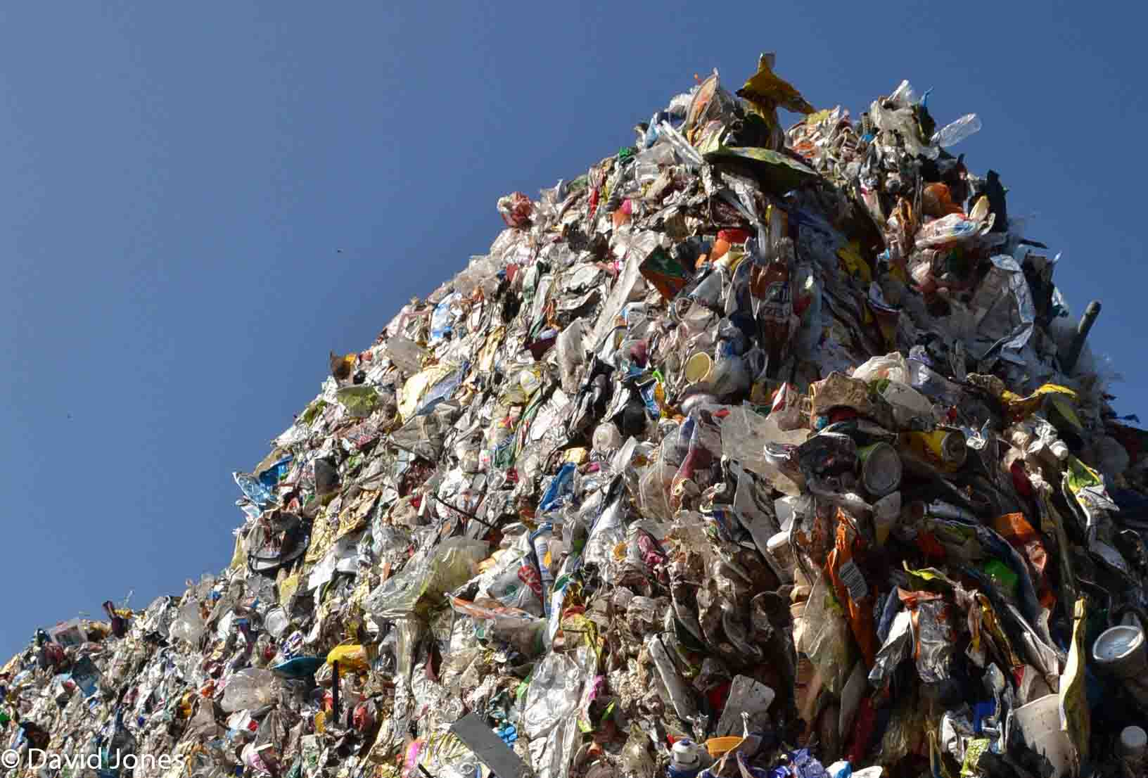 Mountains of plastic waste
