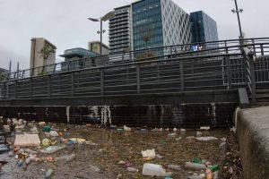 Plastic waste in a river - BBC ITV Studios-1