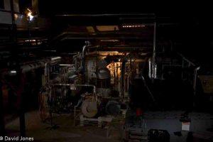 machinery at night
