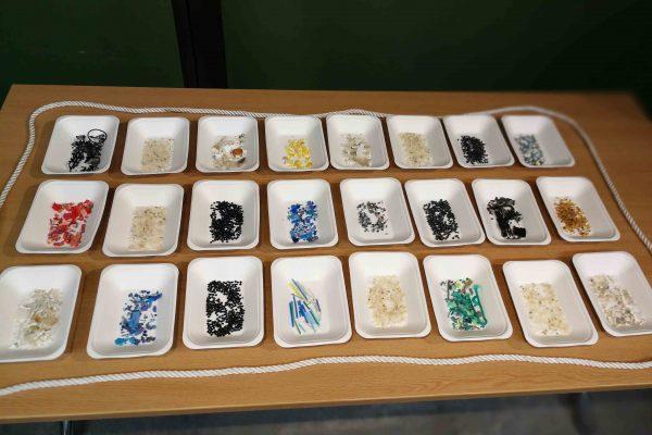 Microplastics sorted