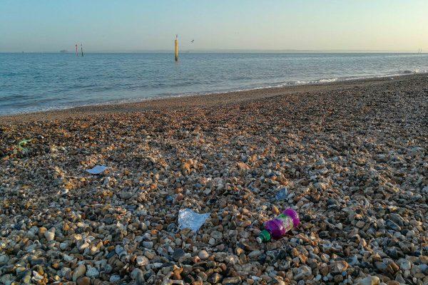 Southsea beach plastic