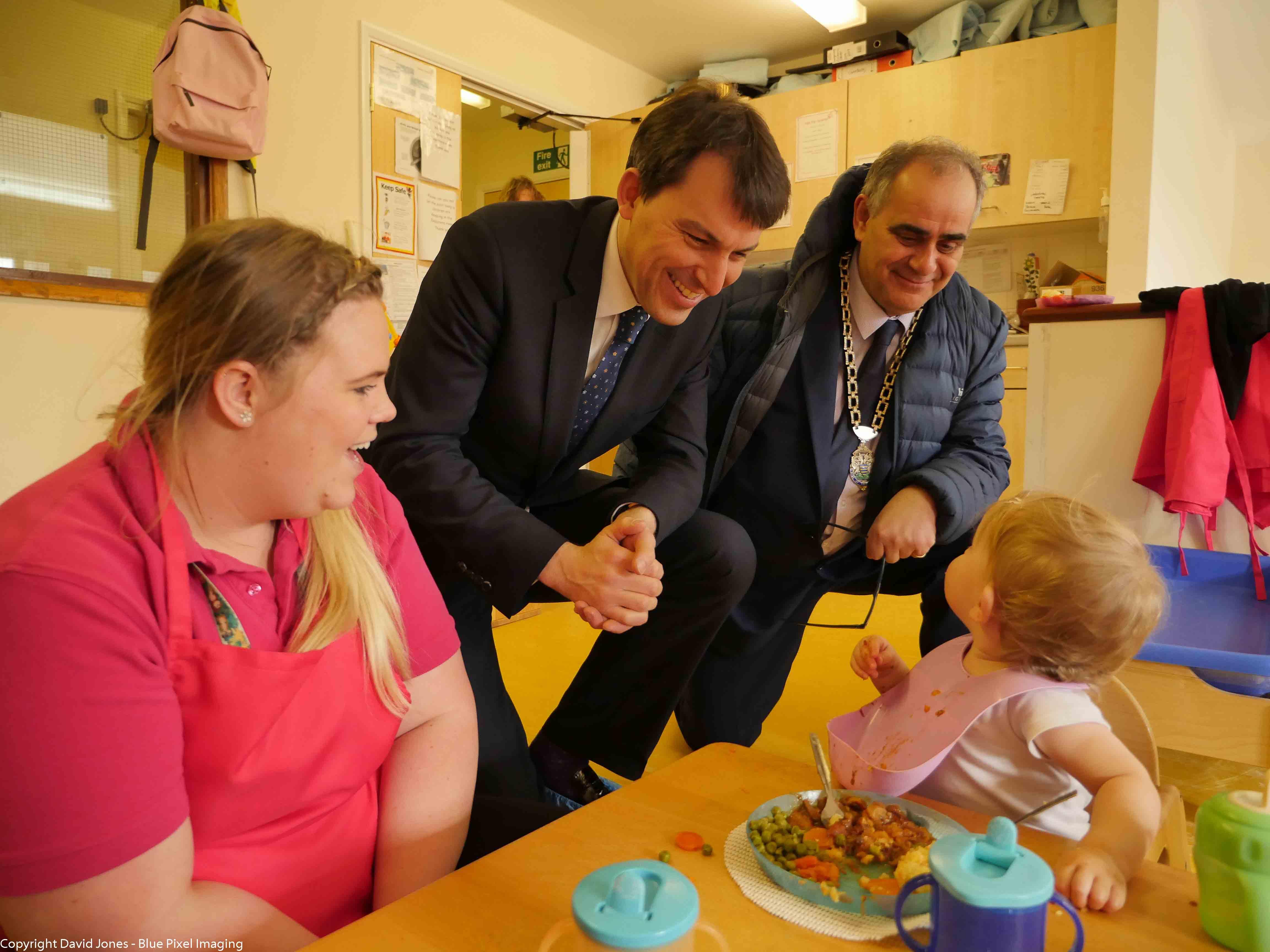MP for Salisbury visits Tops day nursery