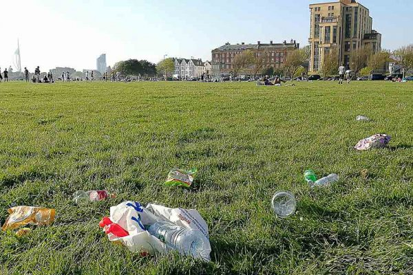 Southsea plastic pollution