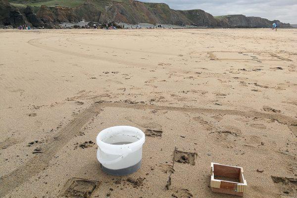 survey kit on the beach
