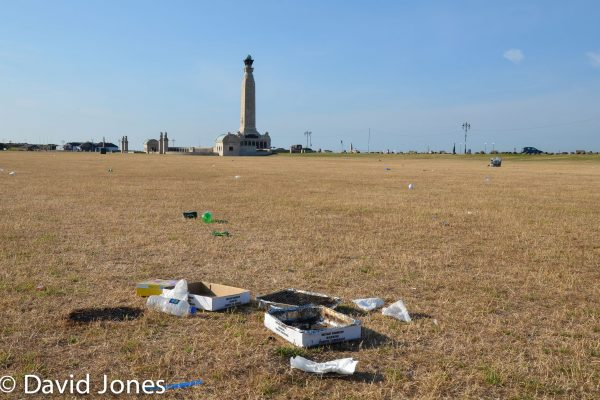 rubbish left on southsea common