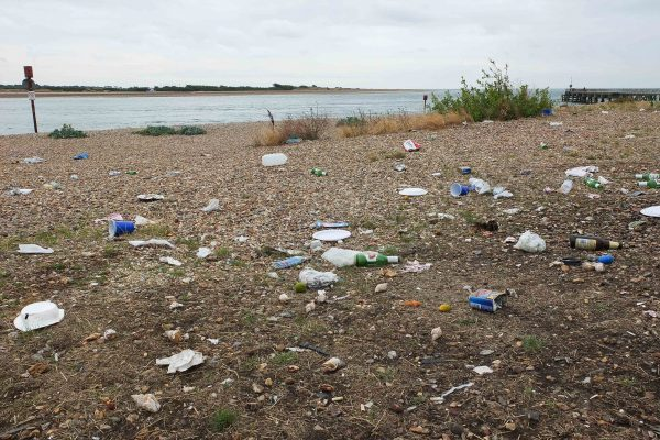 rubbish left on eastney beach