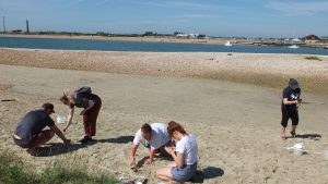 Surveying microplastics on Hayling Island beach