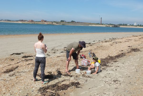 Conducting a microplastic survey on Hayling Island